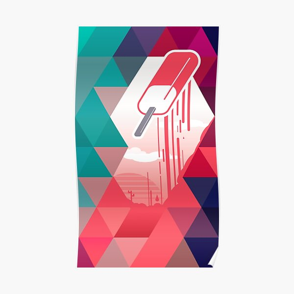 Watermelon Popsicle Poster