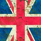 Peeling painting United Kingdom flag by leksele