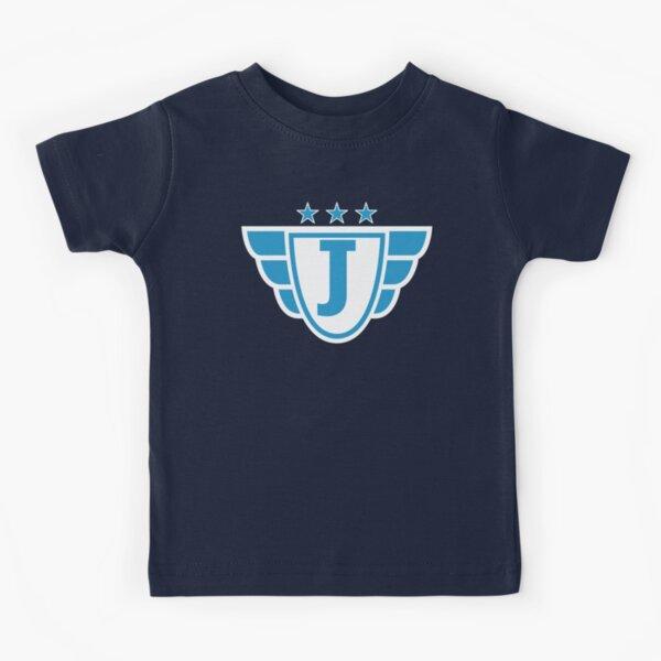 Superhero Letter J. Stars and Wings Kids T-Shirt