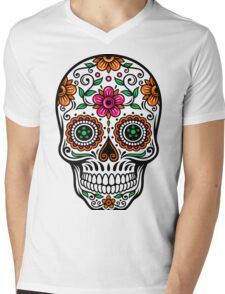 Colorful Floral Skull T-Shirt