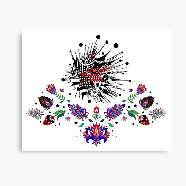 hedgehog urchin lily tulip floral print flowers blossom  Canvas Print