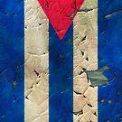 Peeling painting Cuba flag by leksele