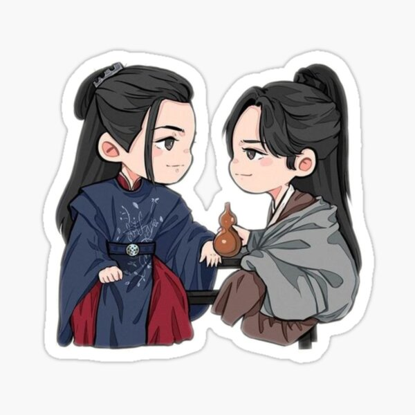 Wen Ke Xing and Zhou Zi Shu  Sticker