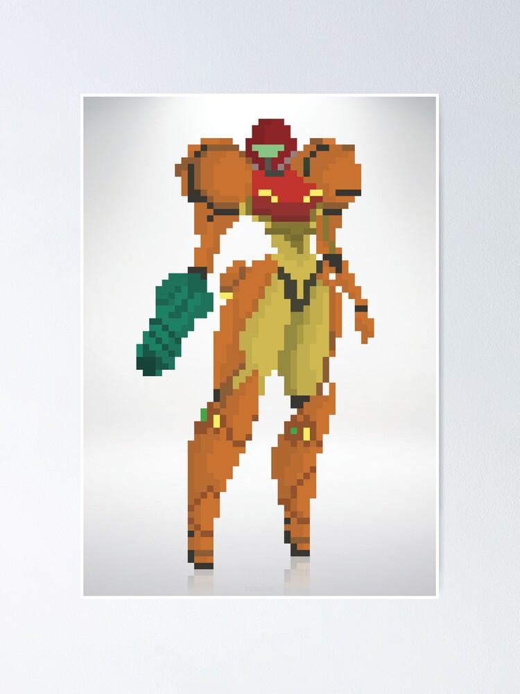 Alternate view of Samus Metroid 8Bit Poster