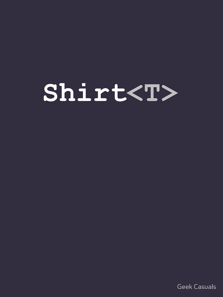 C# Generics T-Shirt (Dark) by geekcasuals