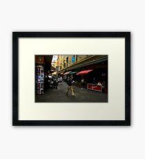 walk the walk  Framed Print