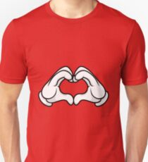 Mickey Hands Heart Love Unisex T-Shirt