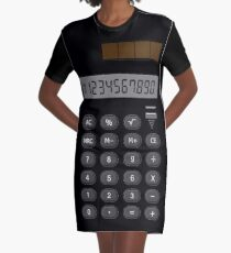Retro Calculator  Graphic T-Shirt Dress