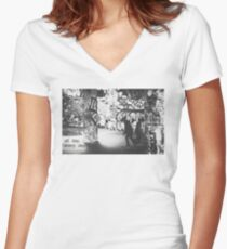 All Day Every Day Skaters Women's Fitted V-Neck T-Shirt