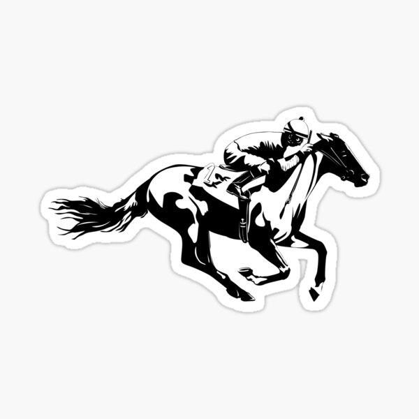 Horse Race Jockey Sticker