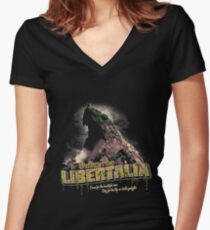 Greetings from Libertalia Women's Fitted V-Neck T-Shirt