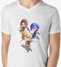 Kingdom Hearts Birth By Sleep: Chibi Men's V-Neck T-Shirt