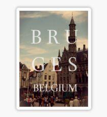 Bruges, belgium Sticker