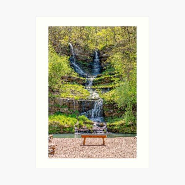 Waterfall Seat Art Print
