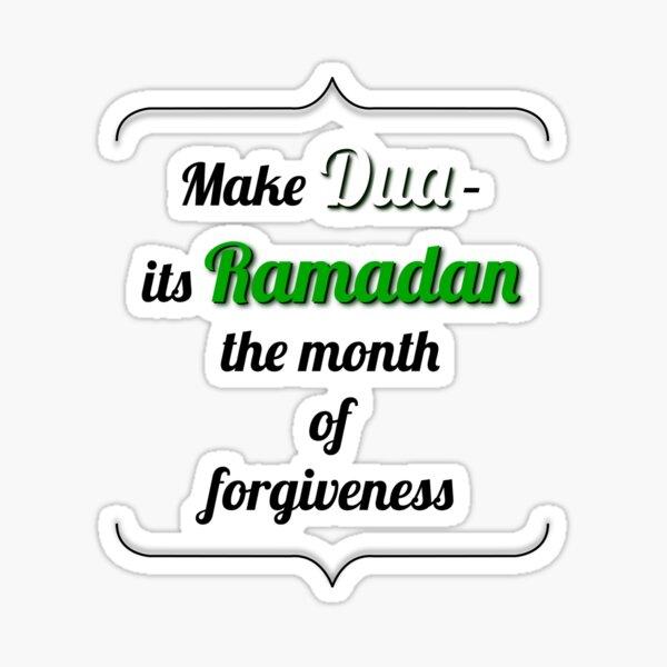 """¡Haga de """"Dua"""", su Ramadán el Mes del Perdón! Pegatina"""
