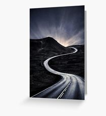 To Where The Darkness Ends Greeting Card