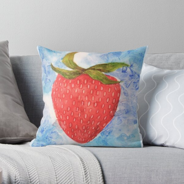 FRUIT series: Strawberry Throw Pillow