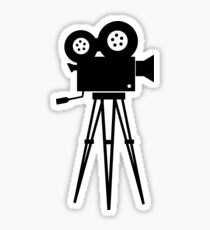 Old Movie Camera Sticker