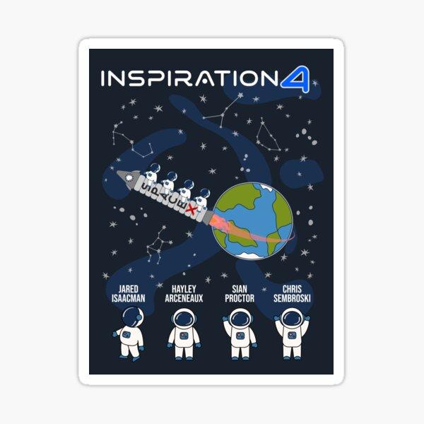 SpaceX First All-Civilian Spaceflight Crew - Inspiration4 Sticker