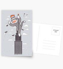 Sock Monkey Just Wants a Friend Postcards