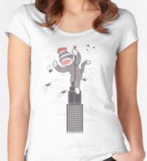 Sock Monkey Just Wants a Friend Women's Fitted Scoop T-Shirt