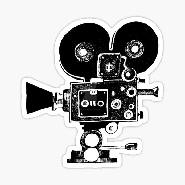 Old Movie Camera vers. 2 Pegatina