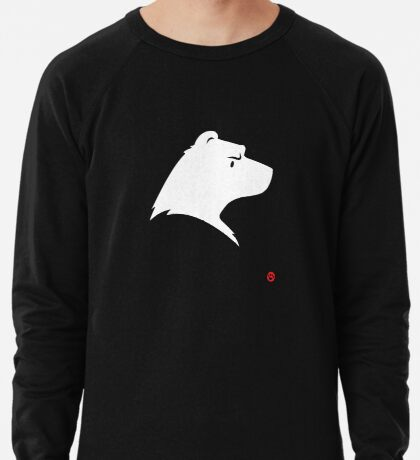 Polar Bear Silhouette Portrait Lightweight Sweatshirt