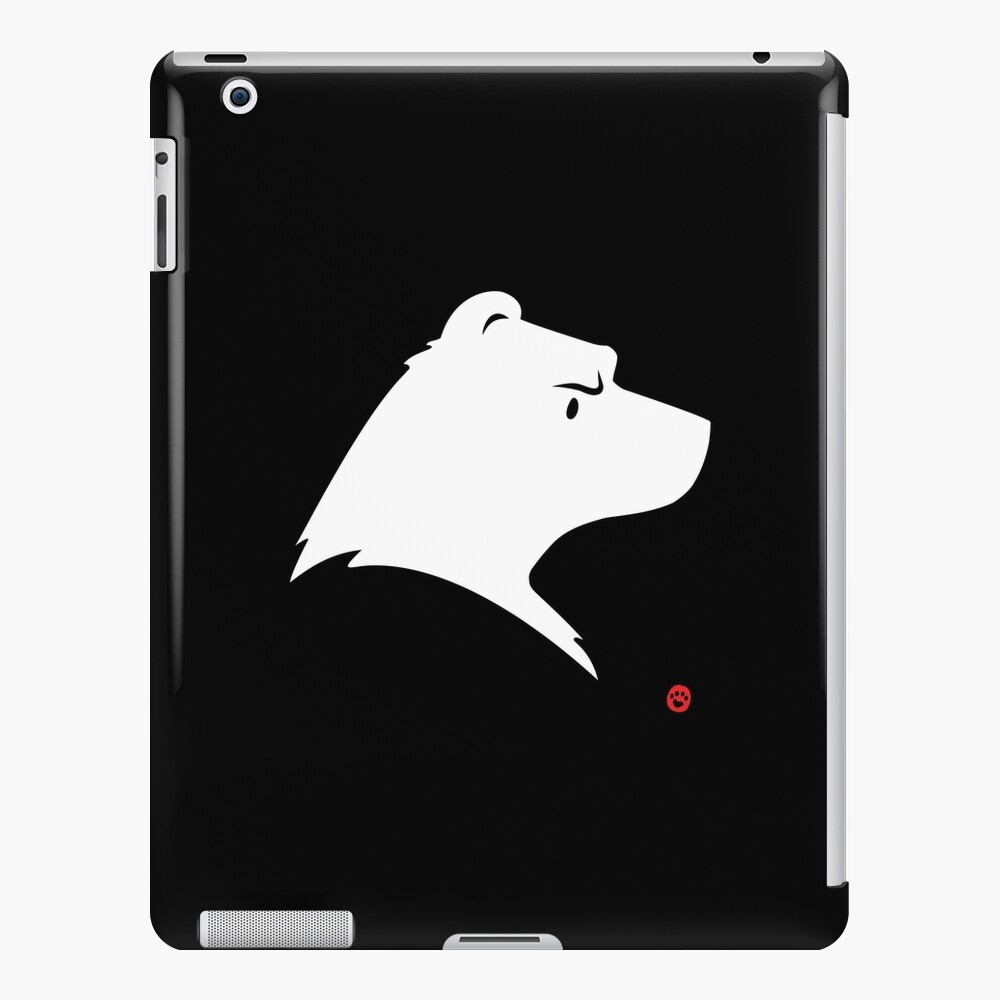 Polar Bear Silhouette Portrait iPad Case & Skin