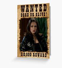 Buffy Faith Wanted Eliza Dushku Greeting Card