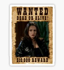 Buffy Faith Wanted Eliza Dushku Sticker