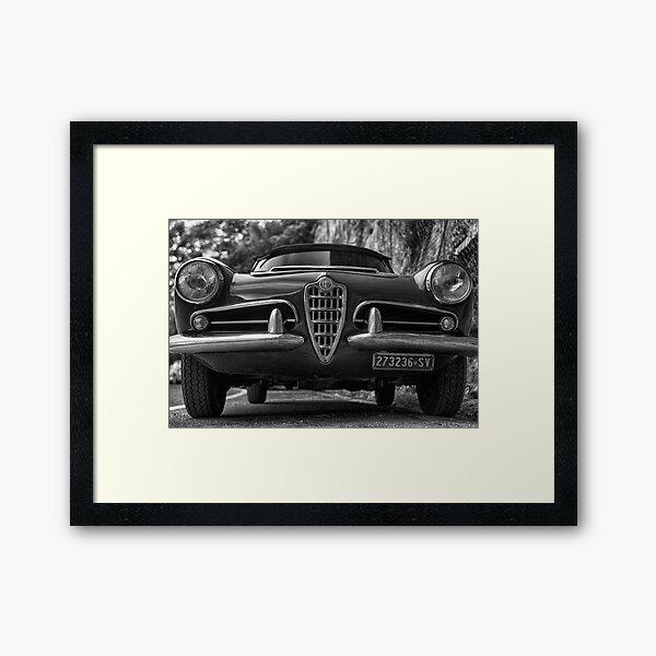 Alfa romeo spider 1963 Framed Art Print