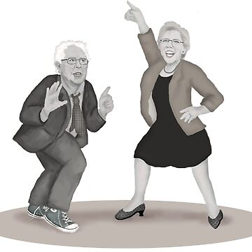 Disco Night with Bernie Sanders and Elizabeth Warren by Fullfrogmoon