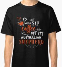 Quirky Australian Shepherd Design Classic T-Shirt