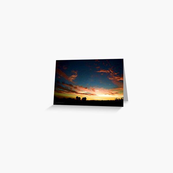 Scene Silhouette Sunset ~ digital paint effect Greeting Card