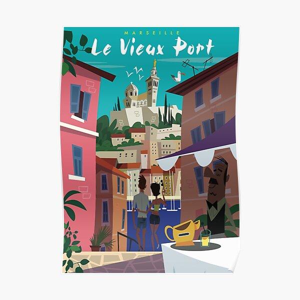 Affiche Marseille Le Vieux Port Poster