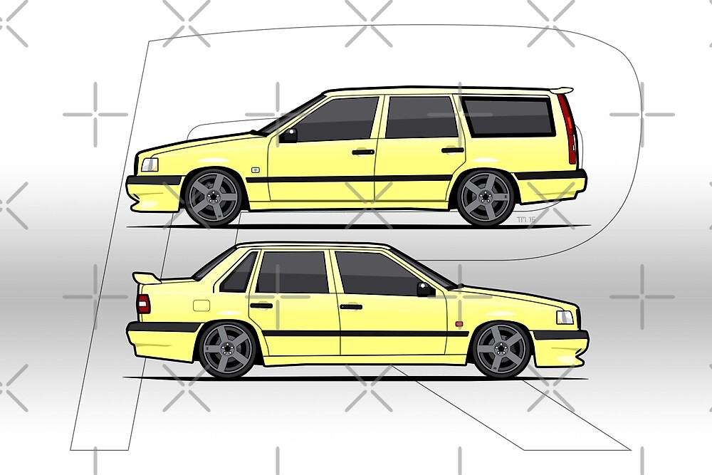 Volvo 850R T5-R Duo Creme Yellow by Tom Mayer