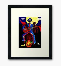 DOWN AT THE CROSSROADS Framed Print