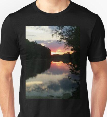 June Sunset over the Passaic River, Wayne NJ USA T-Shirt