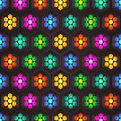 Neon Daisies  by David Dehner