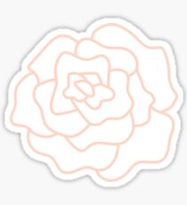 Peach Flower Sticker