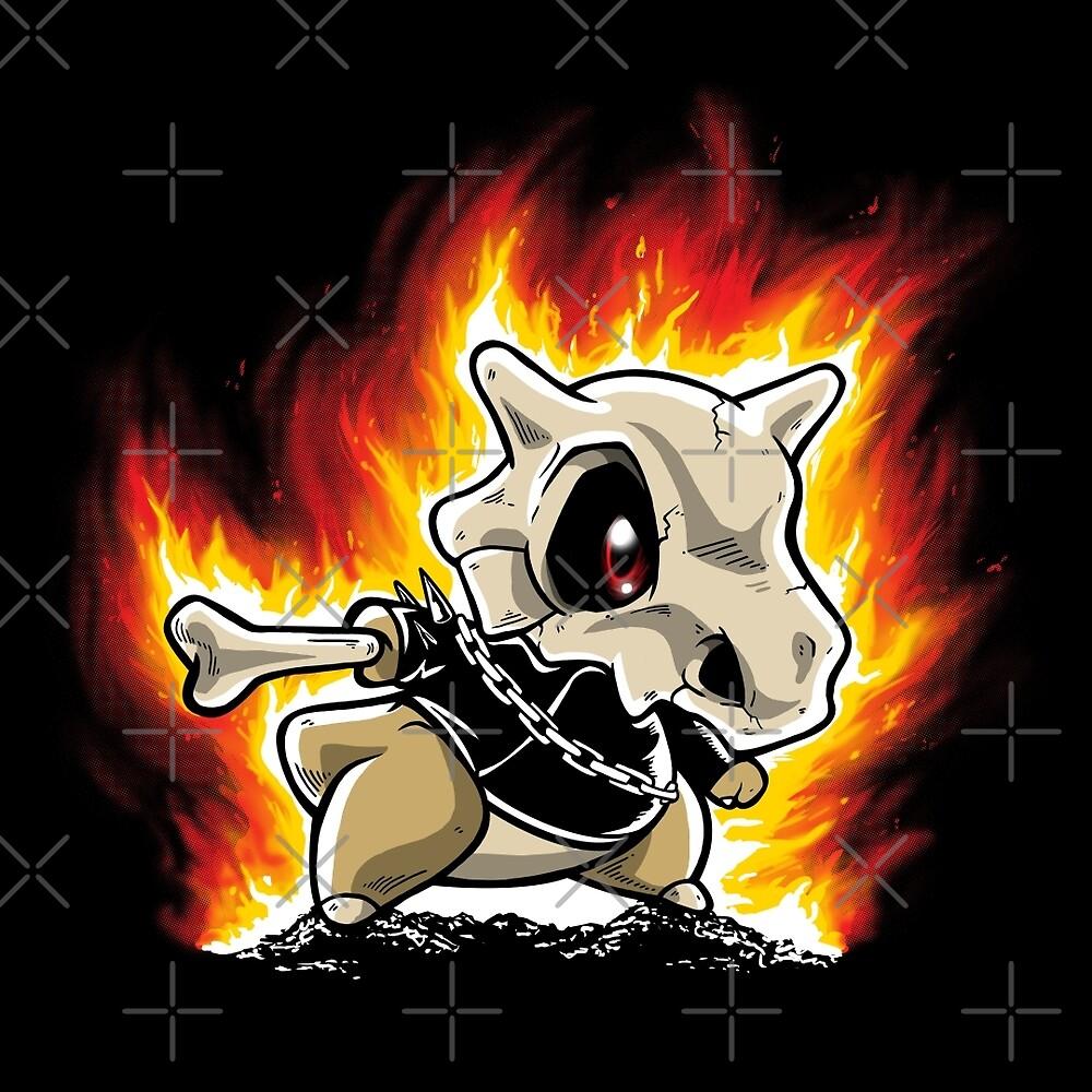 Cubone on fire by NemiMakeit
