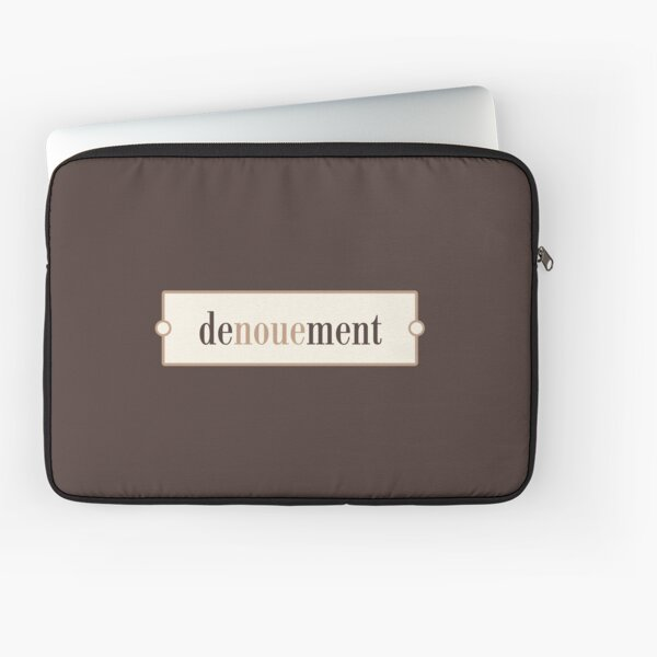 Denouement – Words for Book Lovers (Latte Edition) Laptop Sleeve