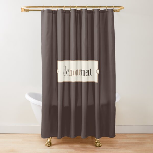 Denouement – Words for Book Lovers (Latte Edition) Shower Curtain