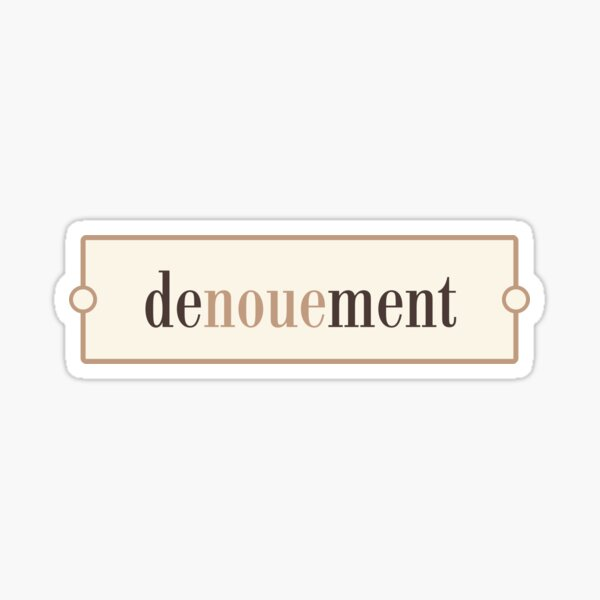 Denouement – Words for Book Lovers (Latte Edition) Sticker