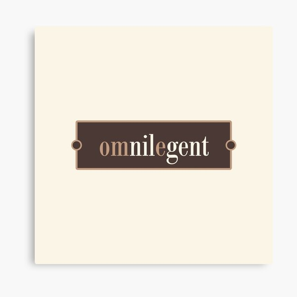 Omnilegent – Words for Book Lovers (Chocolate Edition) Canvas Print