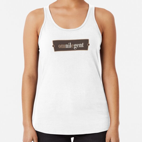 Omnilegent – Words for Book Lovers (Chocolate Edition) Racerback Tank Top