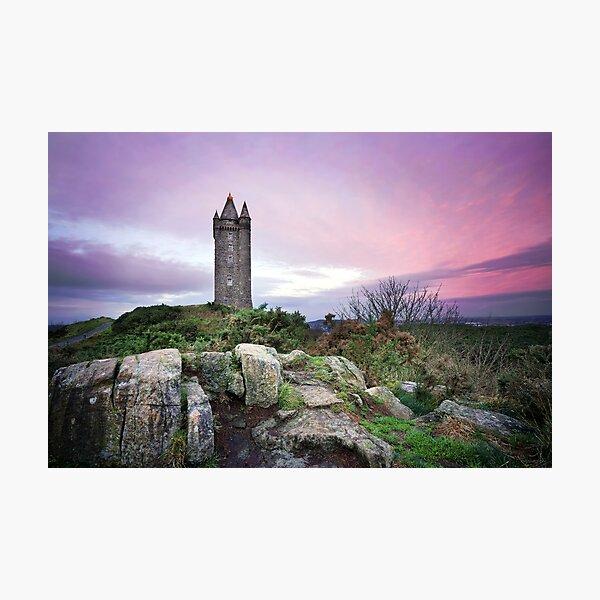 Scrabo tower sunset - Newtownards Photographic Print