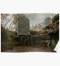 Rock Mill Lancaster ohio Poster