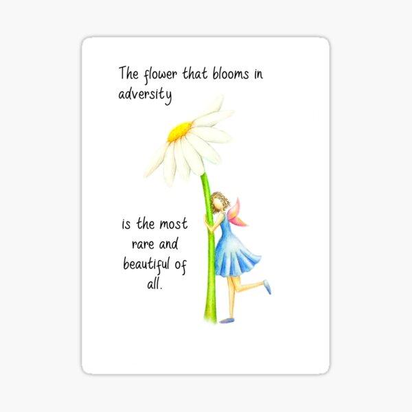 The Most Beautiful Fairy & Flower  Sticker