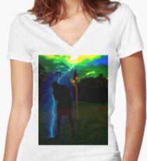 Struck Women's Fitted V-Neck T-Shirt